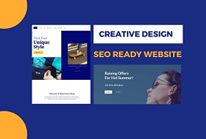 I will design seo ready website for you