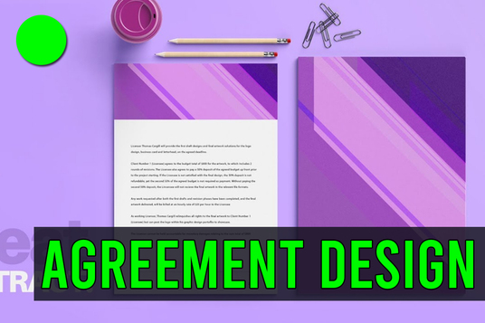 design any legal document, contract or agreement or business contract