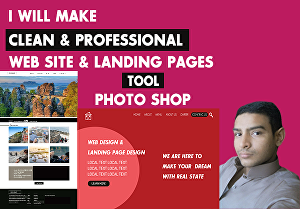 I will make clean & professional landing pages & web design