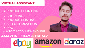 I will be your amazon virtual assistant FBA wholesale and private label