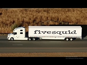 I will add your business logo or text on truck trailer video