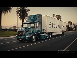 I will add your logo, website, text on truck promo video