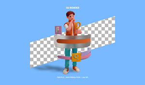 I will create 3D icon illustrations, characters for your project