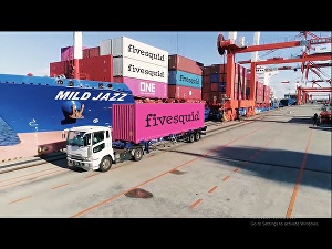 I will promote business on a container transport video