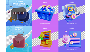 I will create a simple 3D icon illustration for your project
