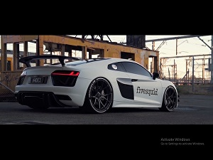 I will put your logo or text on a luxury car video
