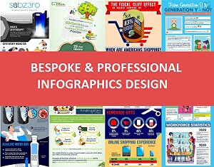 I will design a professional and stunning infographic