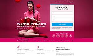 I will design functional responsive landing page
