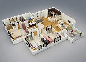 I will redraw floor plan, 2d 3d house plan in autocad & sketchup