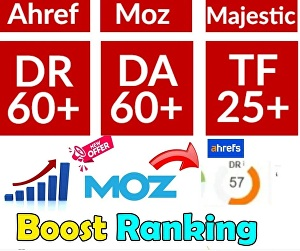 I will increase domain authority Moz da with high-quality backlinks