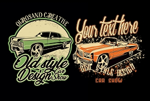 I will draw vintage car for t-shirt design