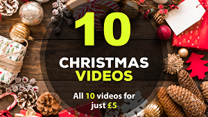 I will create all 10 Christmas greeting videos