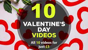 I will create all 10 Valentines Day greeting videos
