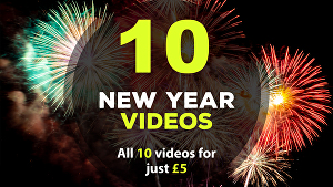 I will create all 10 New Year greeting videos
