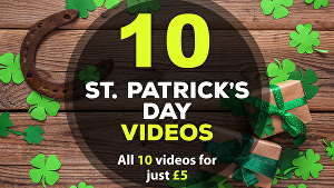 I will create all 10 St Patricks day greeting videos