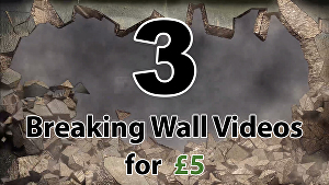 I will create all 3 Breaking Wall, Explosion logo intro videos