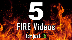 I will create all 5 Fire, Flame logo intro videos