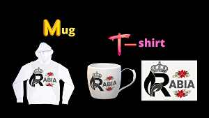 I will design a coffee mug and t-shirt with your logo