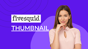 I will design 4 professional fivesquid service thumbnail or image
