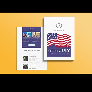 I will design a responsive MailChimp email template design for your website