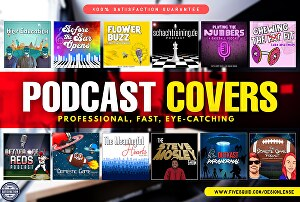 I will design a professional podcast cover art or cover logo