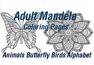 I will create Adult Mandala Coloring Pages 250  Pages