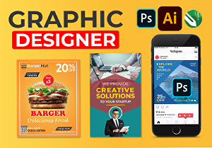 I will do anything in adobe photoshop, illustrator and corel draw