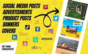 I will design engaging social media posts and ads for you