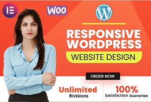 I will design responsive WordPress website with Elementor pro and Astra pro