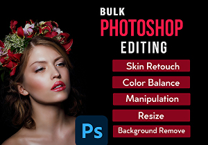 I will Do Bulk Photo Editing retouch in photoshop