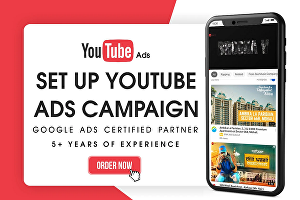 I will set up YouTube ads campaigns for views and engagement