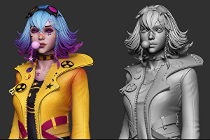 I will create 3d character modeling for realistic or cartoonist design, vrchat avatar, 3d sculpti