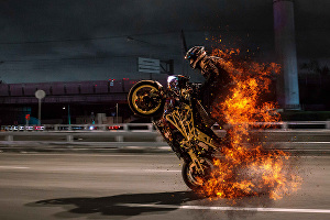 I will edit photo in photoshop to add realistic fire effects