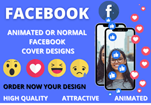 I will design stunning animated facebook cover photo or standard post