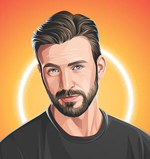 I will create realistic cartoon vector portrait from your photos