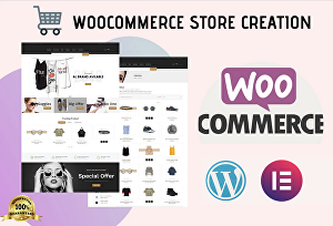 I will build a Woocommerce online store with Elementor pro for your business