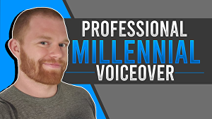 I will record a 100 word conversational and professional American male voice over