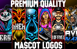 I will design awesome mascot logo for twitch, youtube, esports
