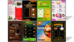 I will create a Professional Menu Price List Design For Your Business