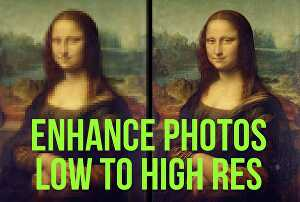 I will improve images quality, restore, enhance, increase  3  Photos