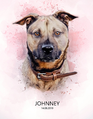 I will draw realistic watercolor art of your pet, ready to print on canvas