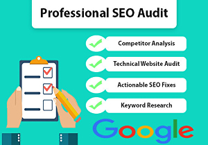I will provide an advance SEO audit report of your website with competitor analysis in 24 hours