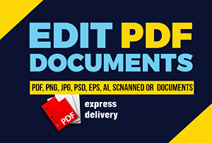I will Professionally Edit your PDF file or image