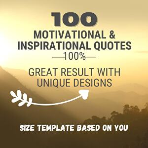 I will Design 100 Inspiring Motivational Quotes with Logo In 24h
