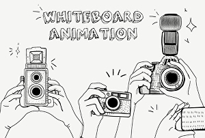 I will create whiteboard animations explainer video or doodle video