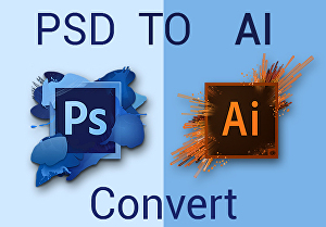 I will convert PSD file to AI vector file