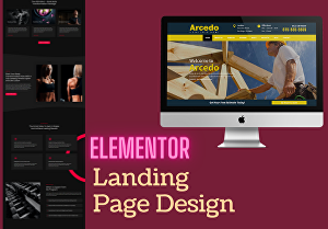 I will create a responsive WordPress landing page or elementor landing page design