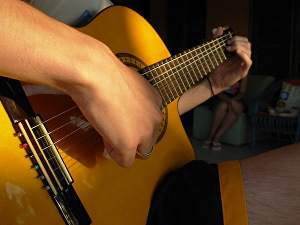 I will find acoustic chords and rhythm for your song