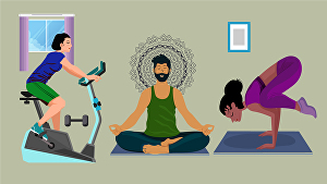 I will draw vector  yoga, workout, medical,  fitness, illustration
