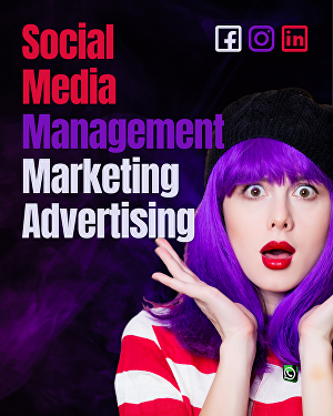 I will provide Social Media Management, Marketing & Advertising services for Facebook, Instag